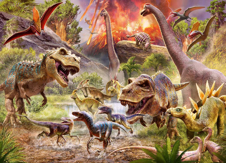 Dinosaur Dash Dinosaurs Jigsaw Puzzle
