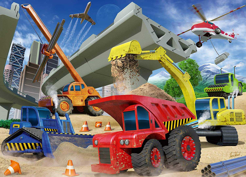 Construction Trucks Vehicles Jigsaw Puzzle