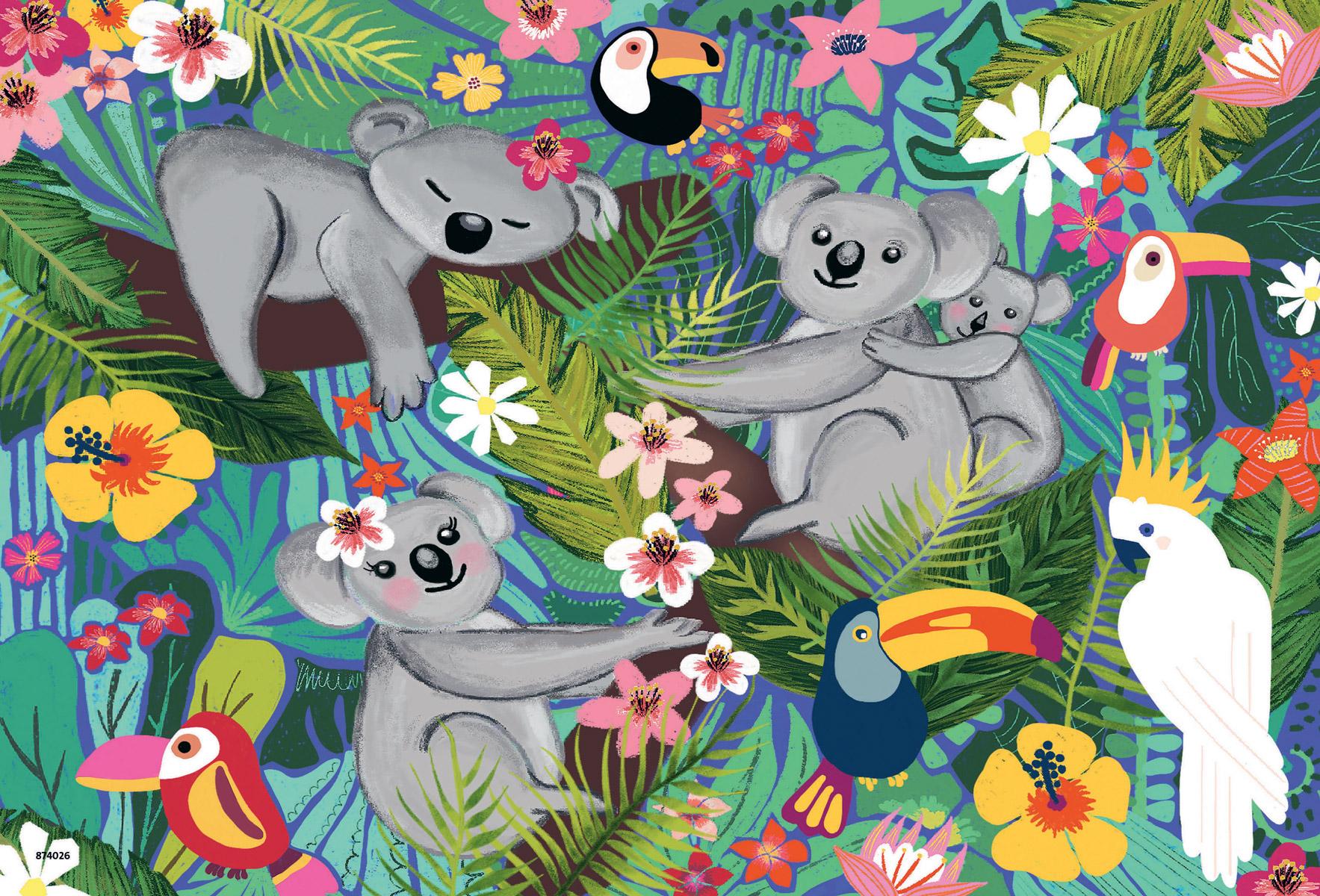 Koalas and Sloths Animals Jigsaw Puzzle