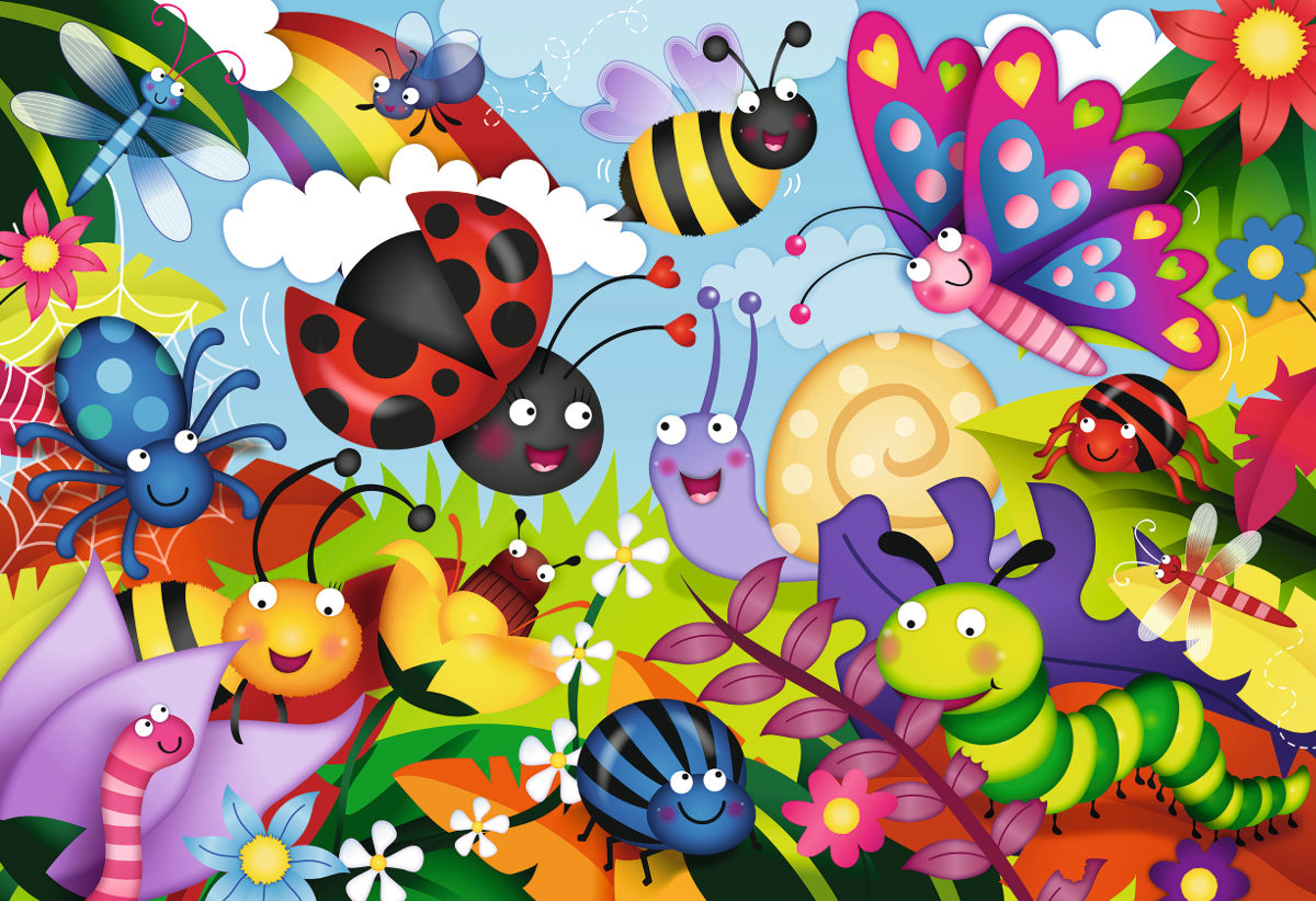 Cute Bugs Butterflies and Insects Jigsaw Puzzle