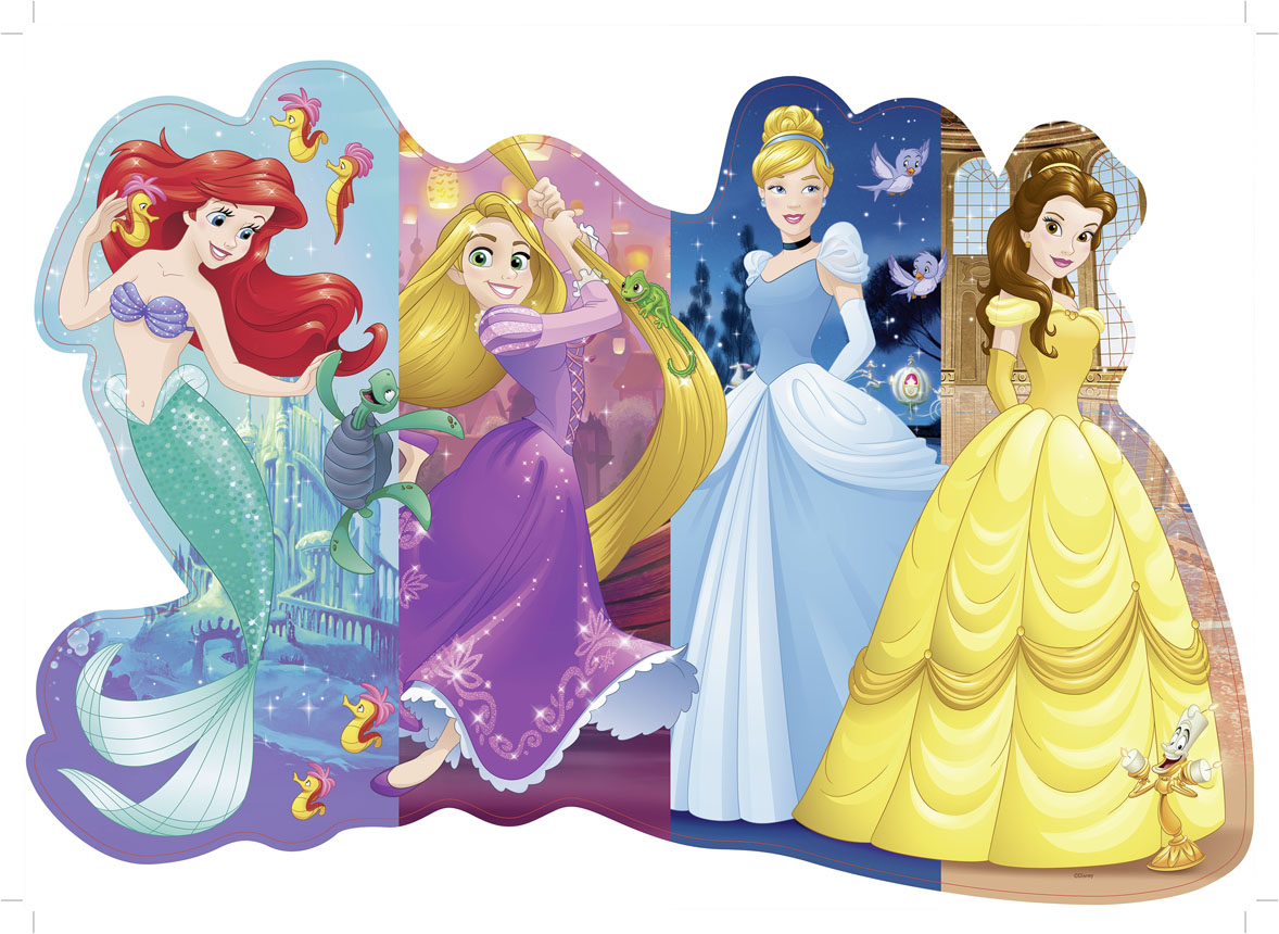 Pretty Princesses Disney Shaped Puzzle