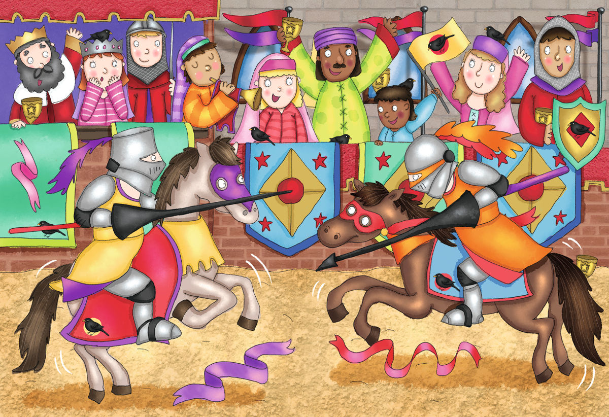 At the Joust Birds Children's Puzzles