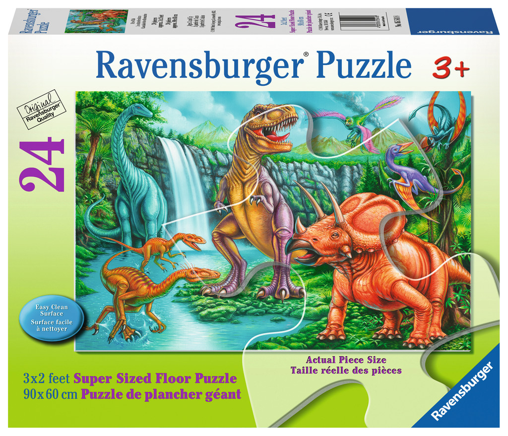 Dino Falls - Scratch and Dent Dinosaurs Jigsaw Puzzle