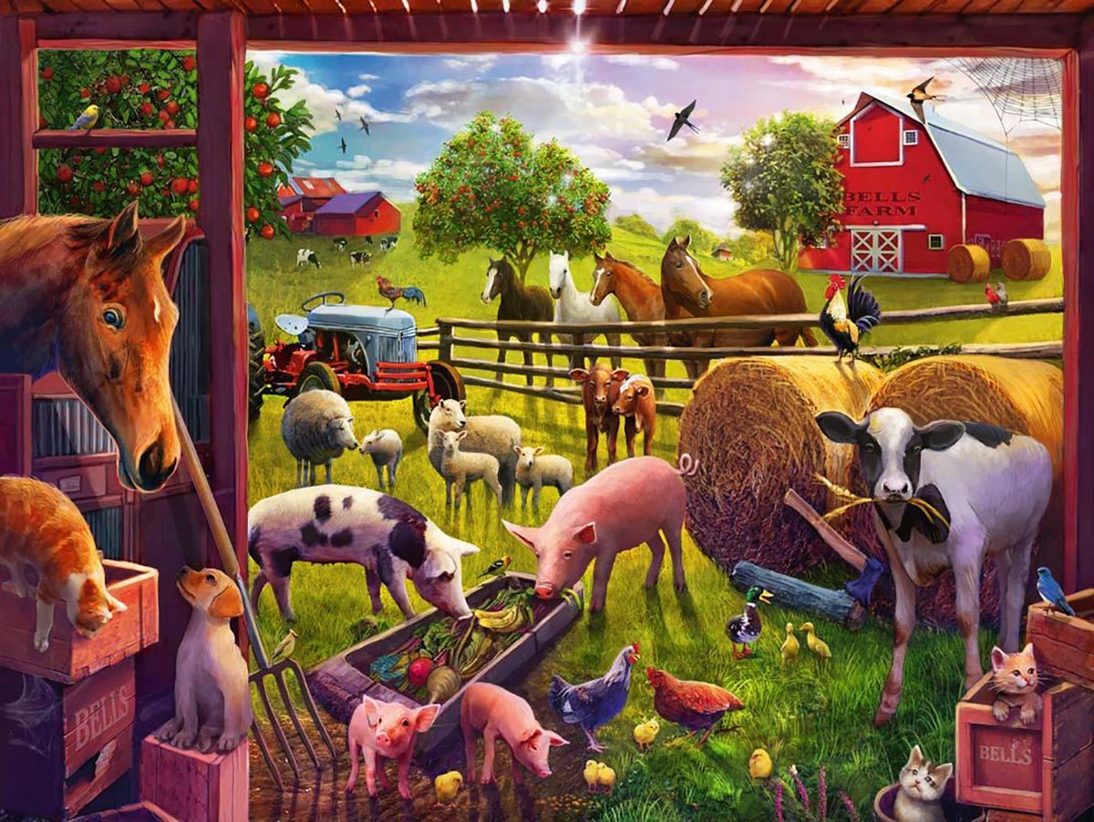 Animals of Bells Farm Farm Animals Jigsaw Puzzle