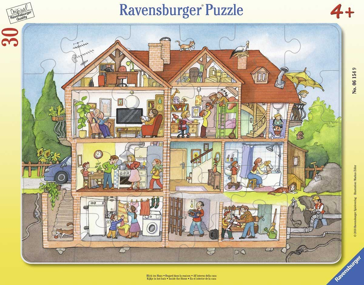 Inside the House Domestic Scene Jigsaw Puzzle