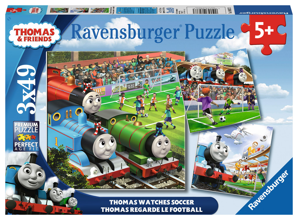 Thomas Watches Soccer Thomas and Friends Jigsaw Puzzle
