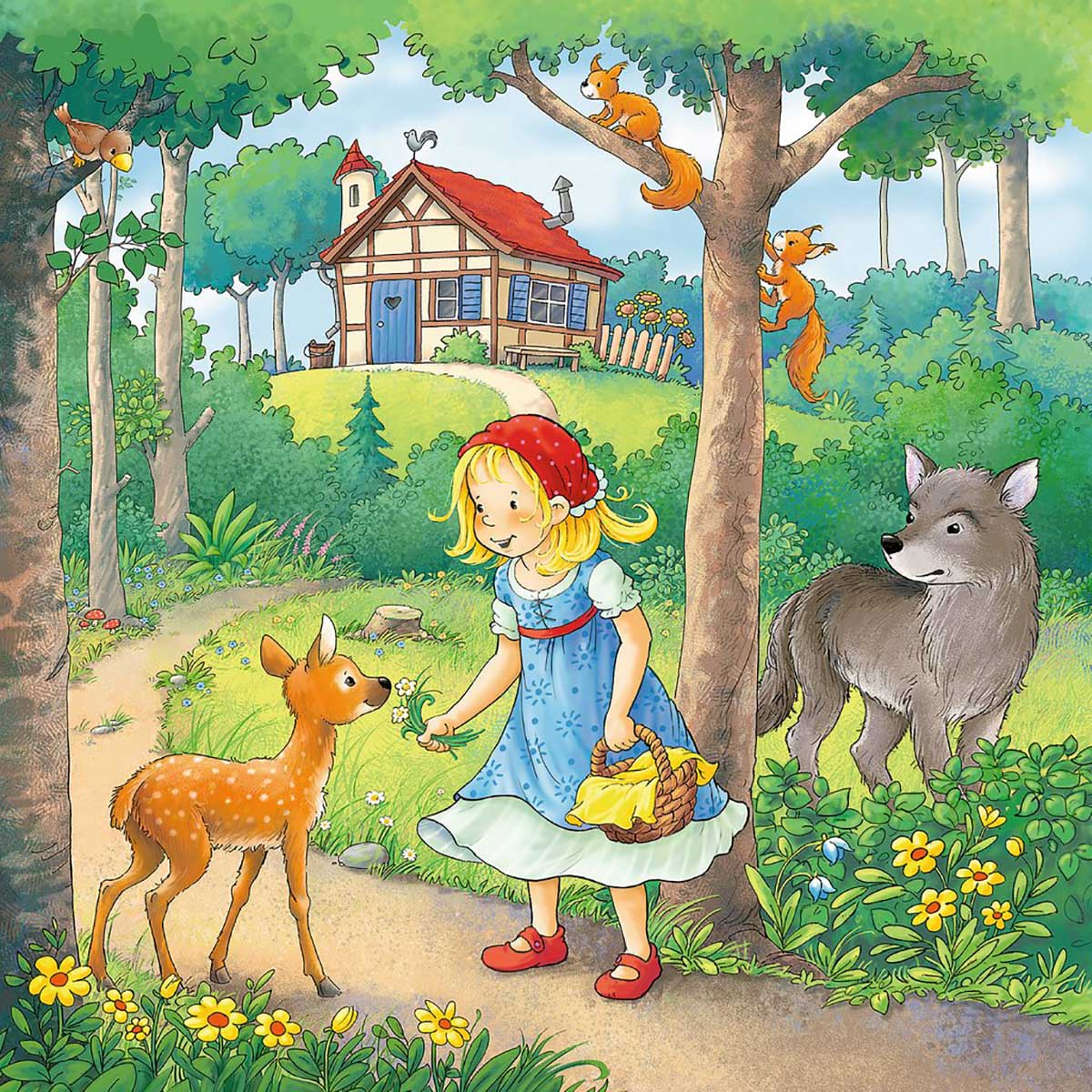 Rapunzel, Red Riding Hood, Frog King Graphics / Illustration Jigsaw Puzzle