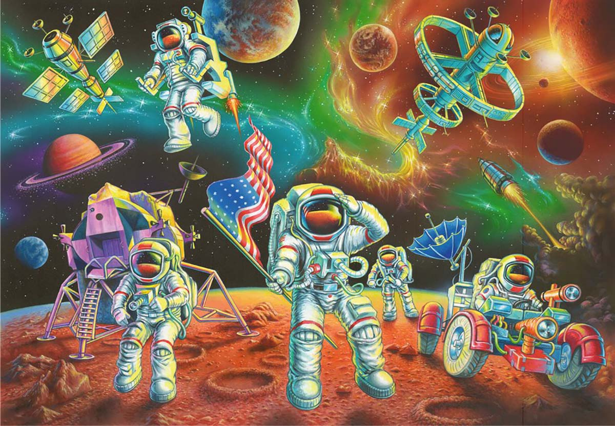 Moon Landing Science Jigsaw Puzzle