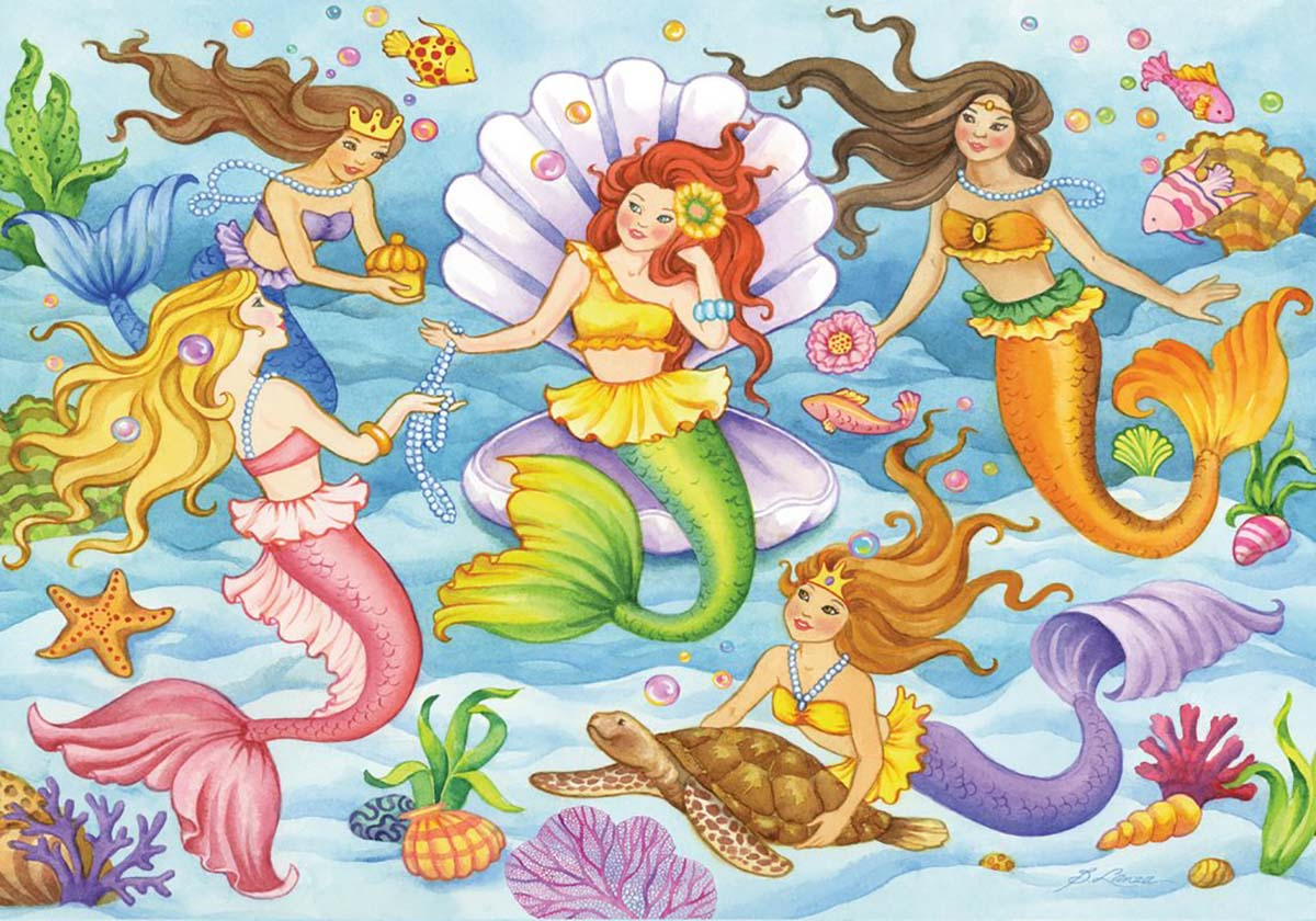 Queens of the Ocean Mermaids Jigsaw Puzzle
