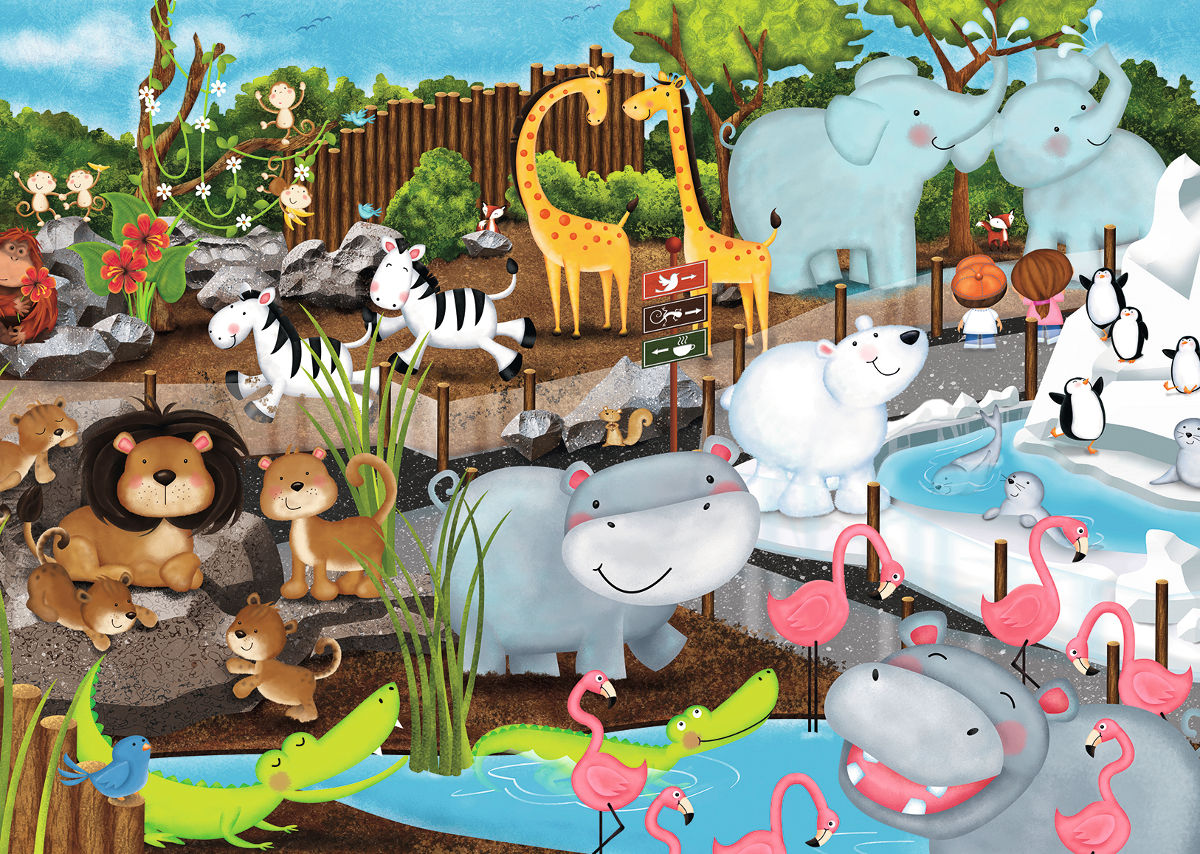 Day at the Zoo - Scratch and Dent Birds Jigsaw Puzzle