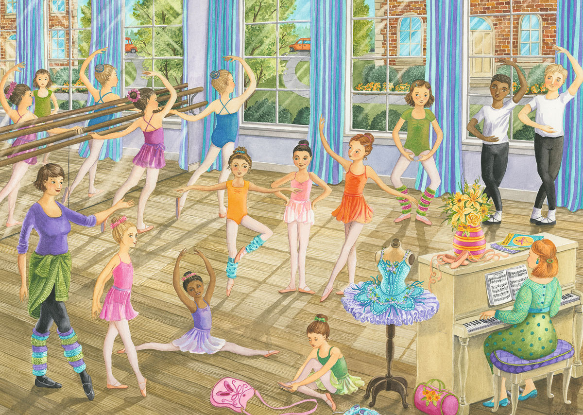 Ballet Lesson People Jigsaw Puzzle