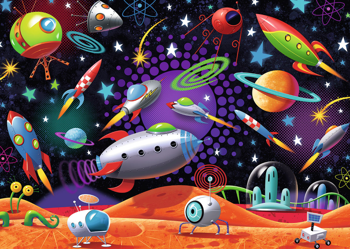 Space Cartoons Jigsaw Puzzle
