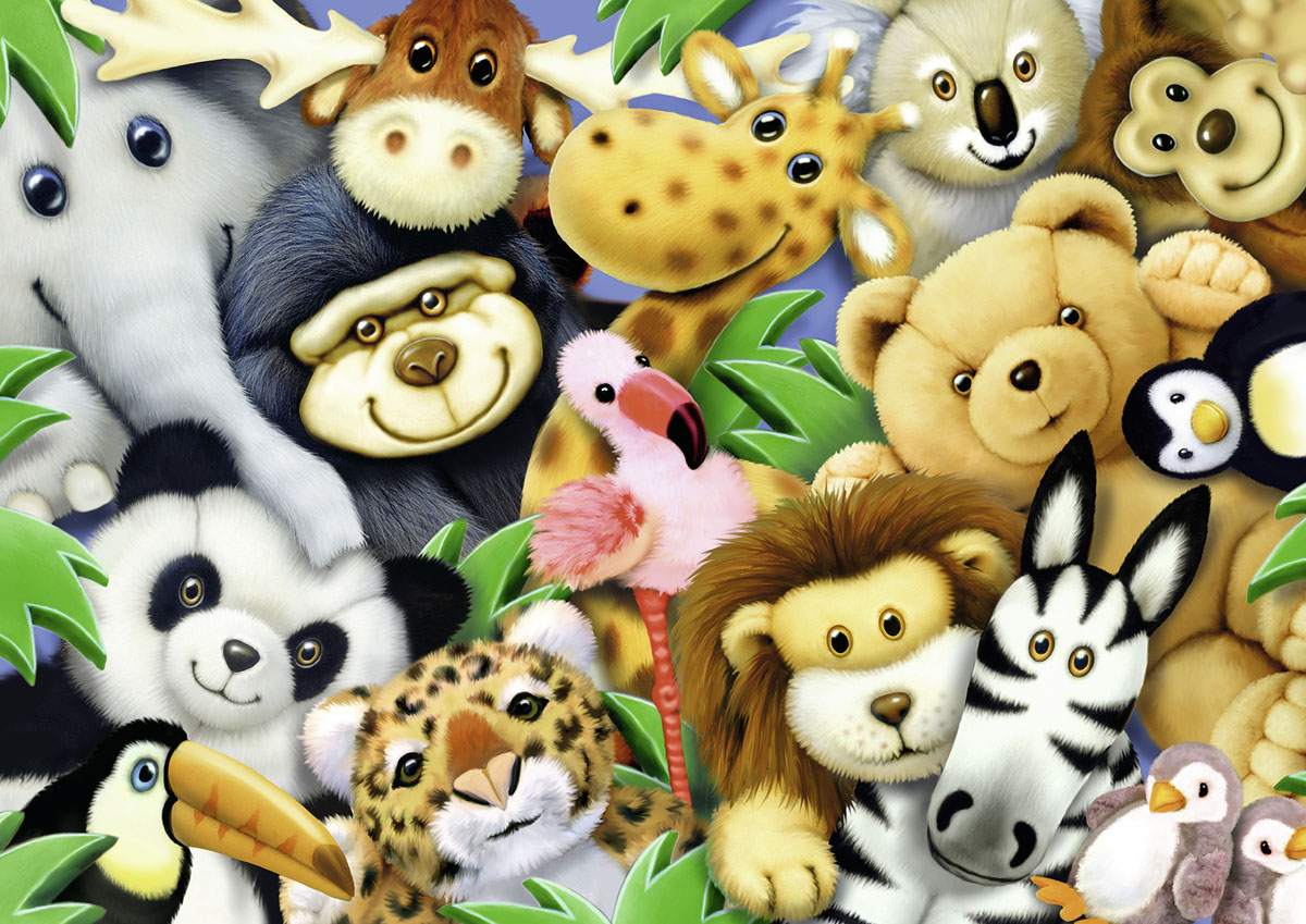 Softies Jungle Animals Jigsaw Puzzle