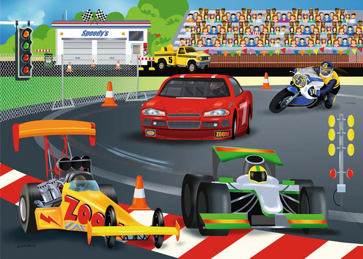 Day at the Races Cars Jigsaw Puzzle