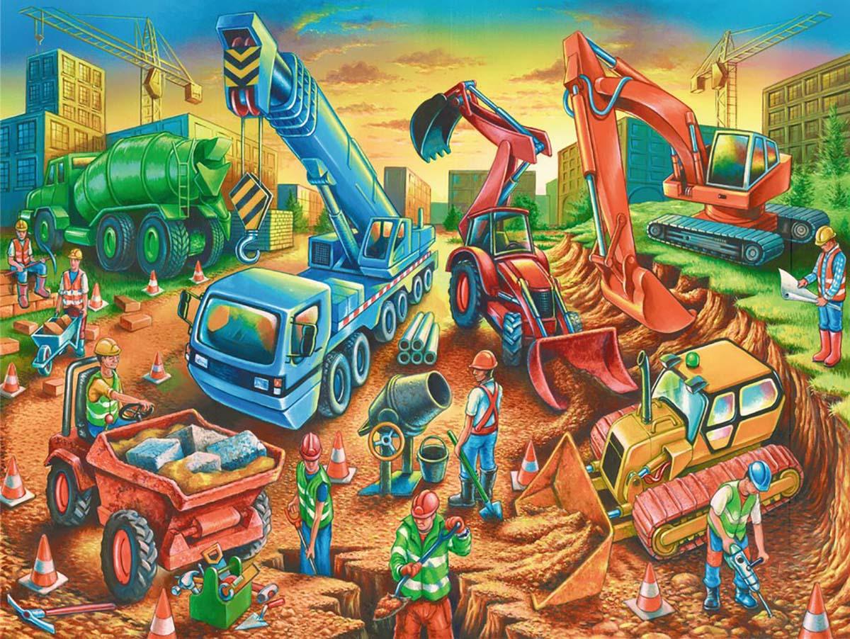 Construction Crew Construction Jigsaw Puzzle