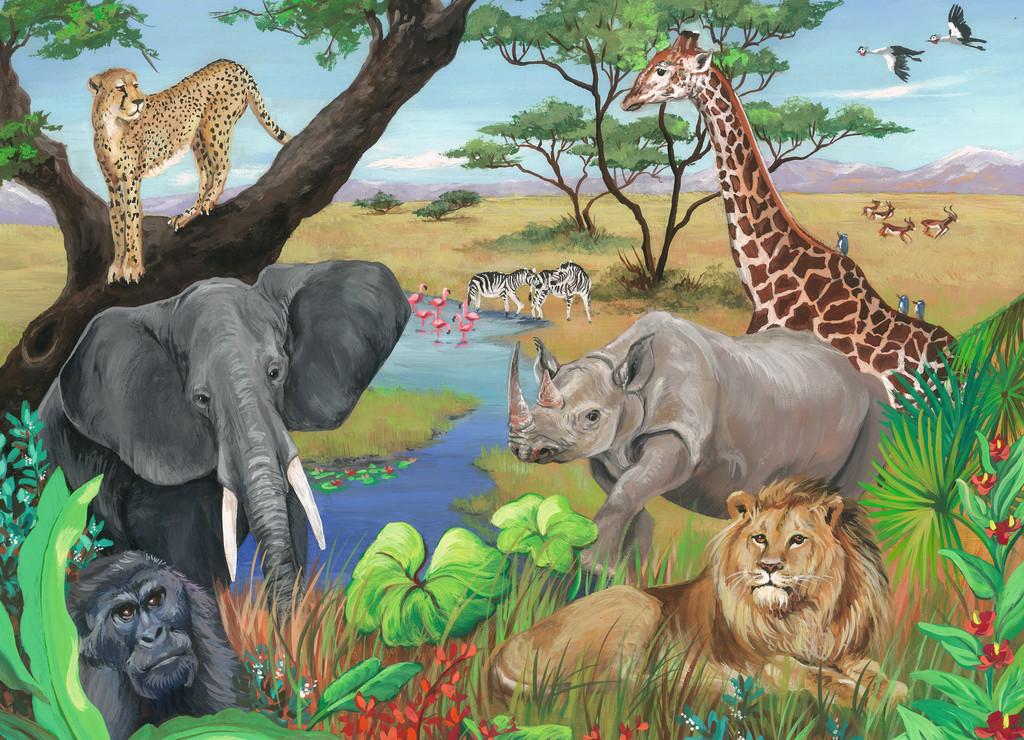 Safari Animals Jungle Animals Jigsaw Puzzle