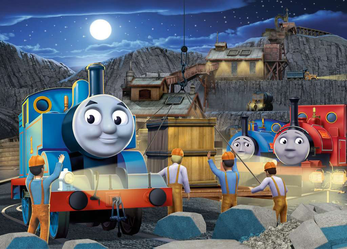 Night Work Thomas and Friends Glow in the Dark Puzzle