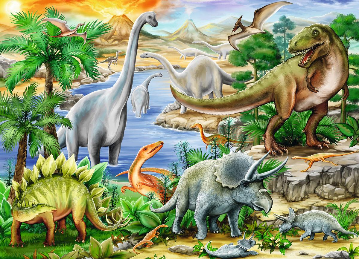 Prehistoric Life Dinosaurs Jigsaw Puzzle
