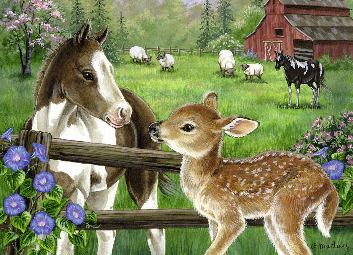 New Neighbors Farm Animals Jigsaw Puzzle