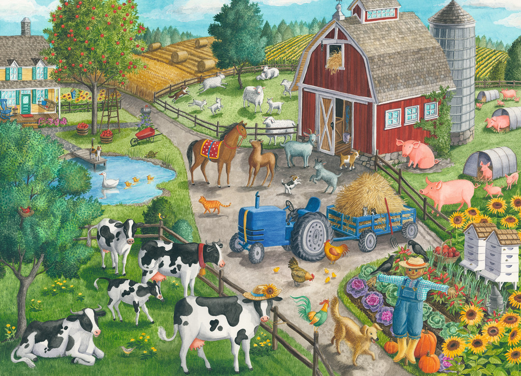 Home on the Range Farm Jigsaw Puzzle