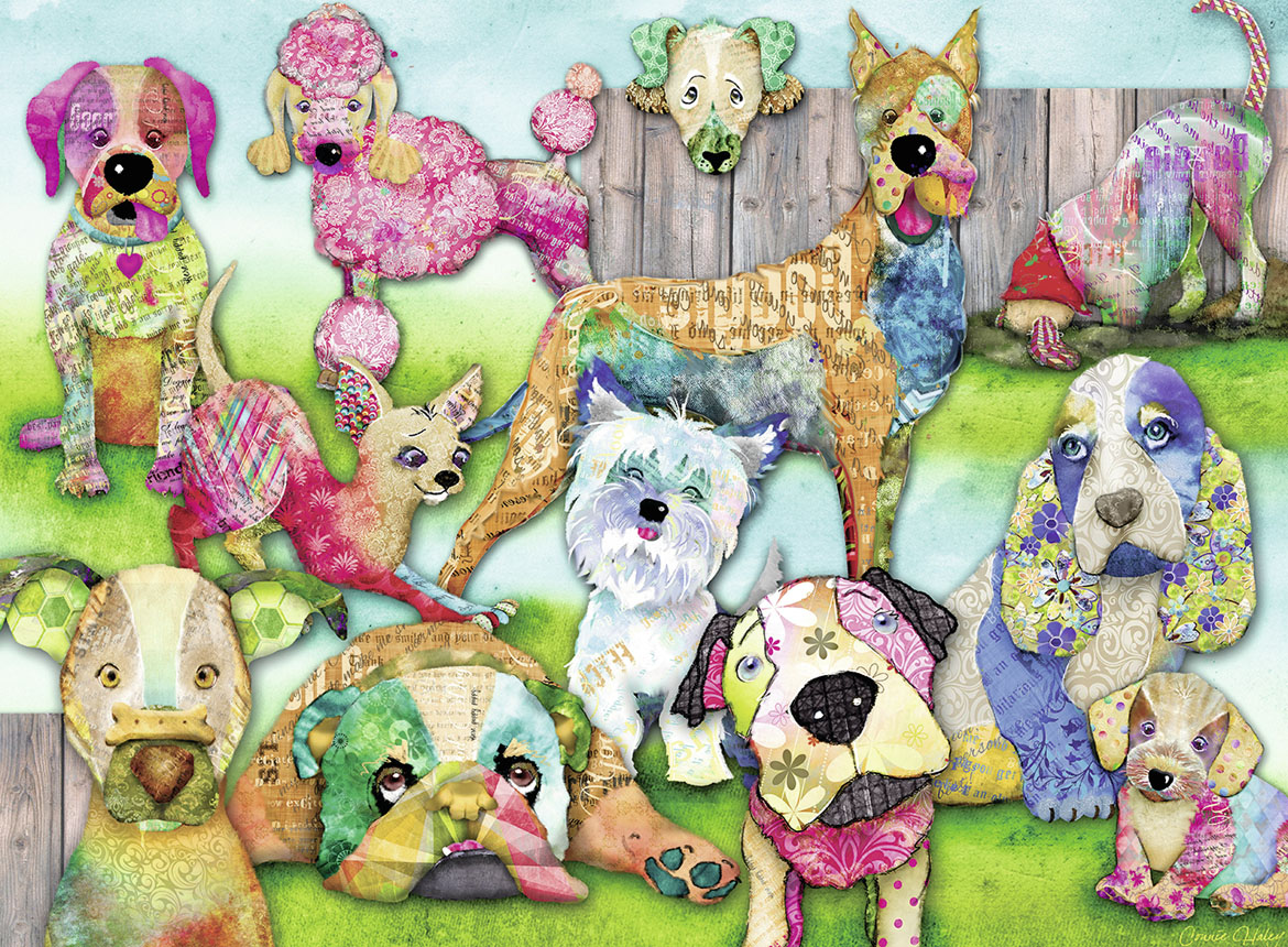 Patchwork Pups Dogs Jigsaw Puzzle