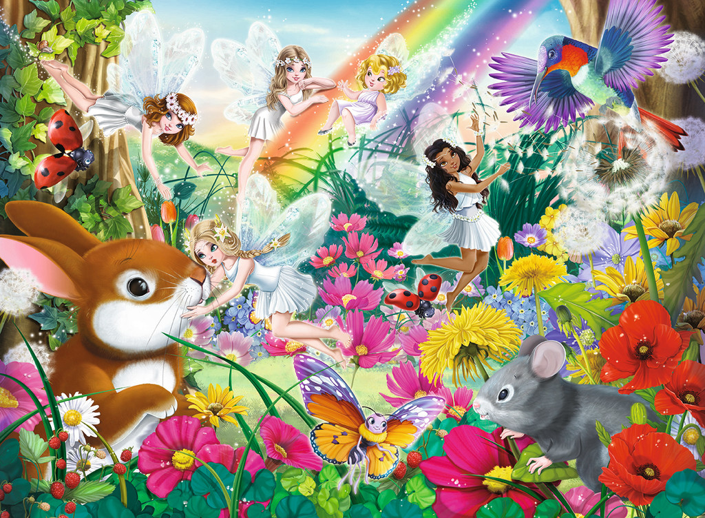 Magical Forest Faries Fairies Jigsaw Puzzle