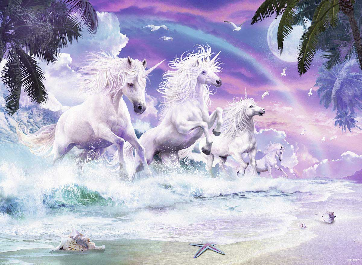 Unicorn Beach Unicorns Jigsaw Puzzle