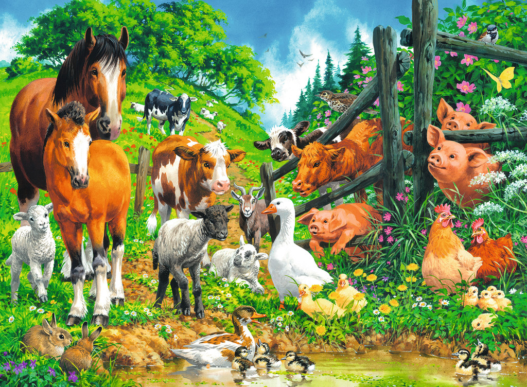 Animals Get Together Animals Jigsaw Puzzle
