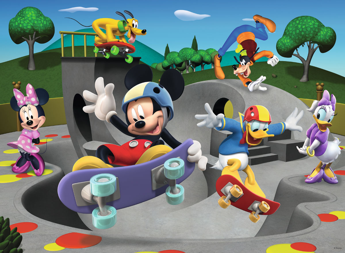 At the Skate Park (Mickey & Minnie) Disney Jigsaw Puzzle