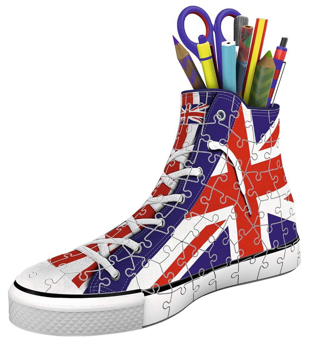 Sneaker: Union Jack Everyday Objects Jigsaw Puzzle