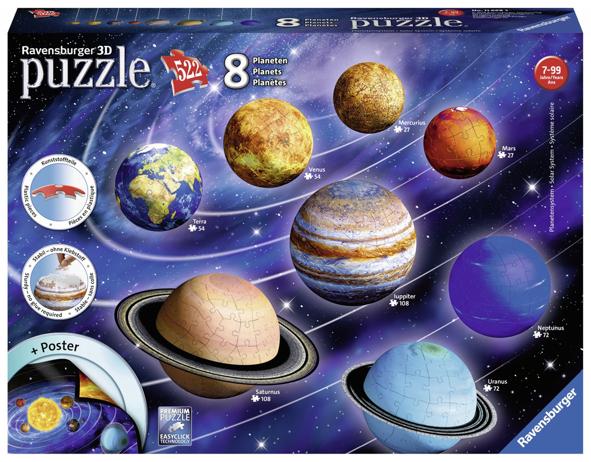 3D Solar System Space Jigsaw Puzzle