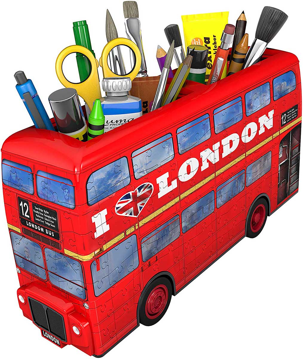 London Bus Vehicles 3D Puzzle