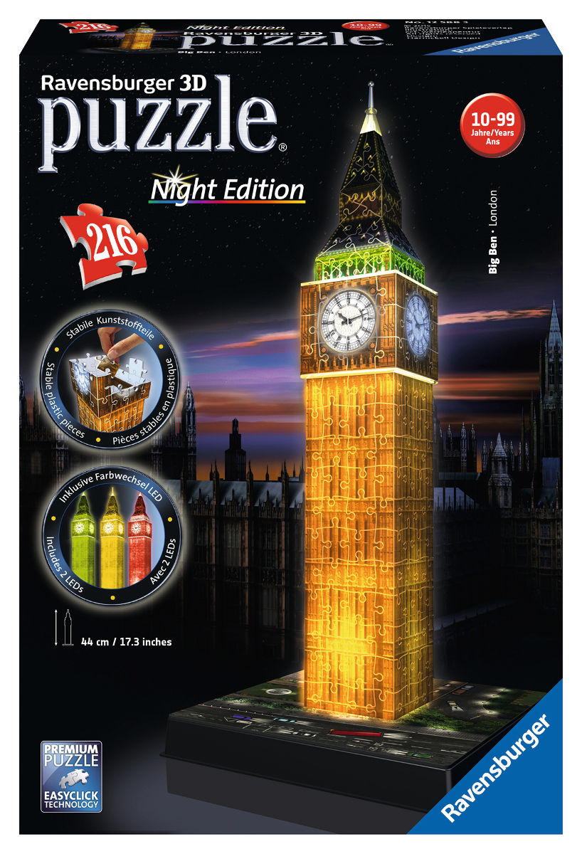 Big Ben - Night Edition Landmarks / Monuments Jigsaw Puzzle