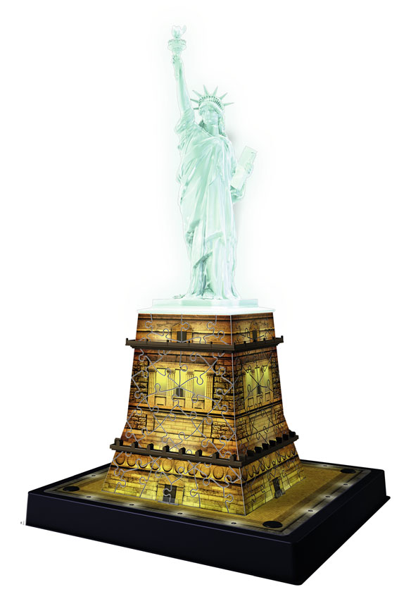 Statue of Liberty - Night Edition Landmarks / Monuments Glow in the Dark Puzzle