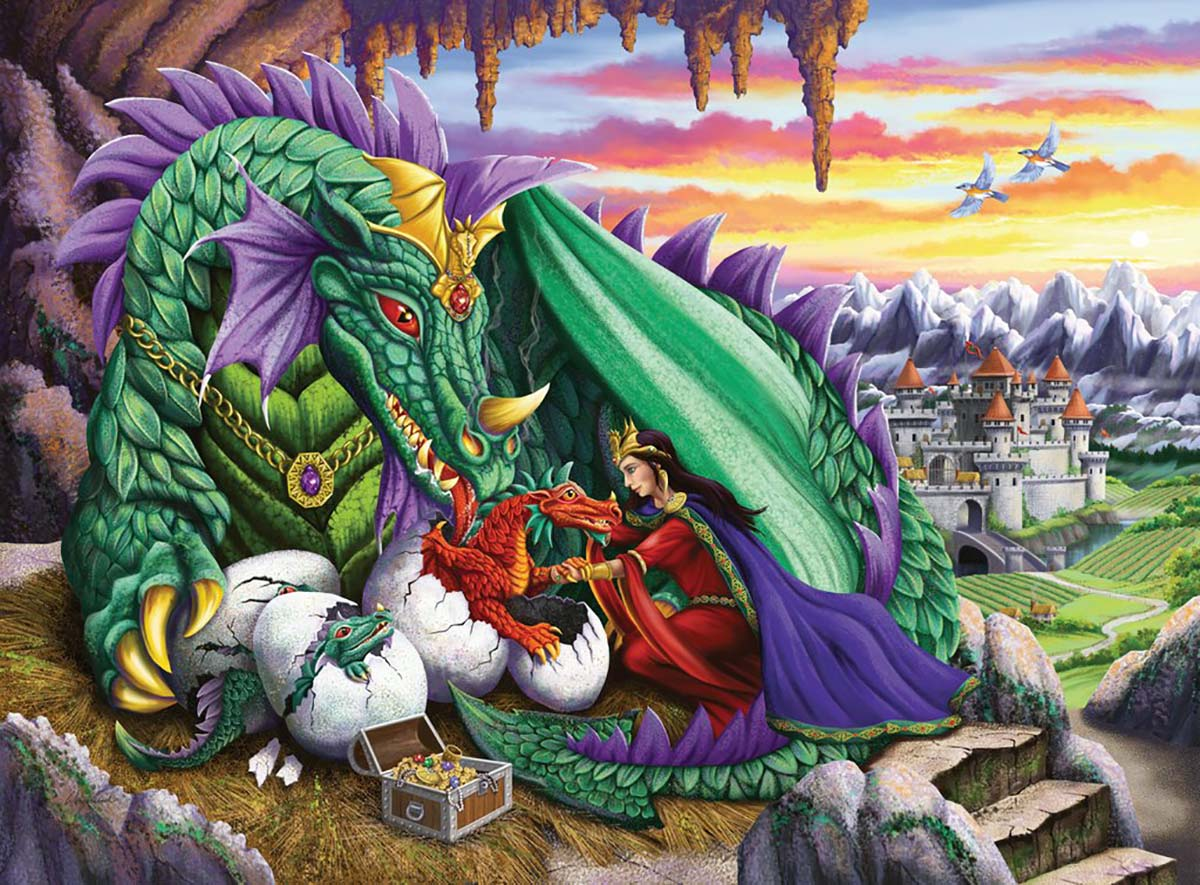 Queen of Dragons Fantasy Jigsaw Puzzle