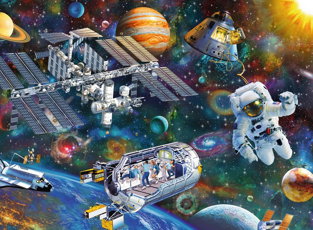 Cosmic Exploration Space Jigsaw Puzzle
