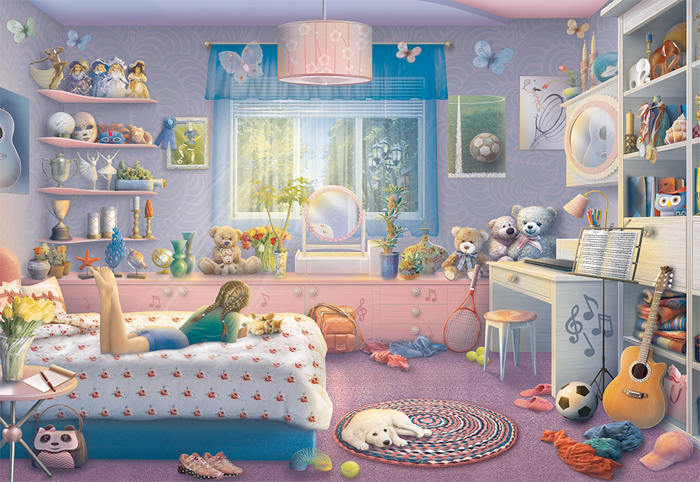 Sister's Space Domestic Scene Jigsaw Puzzle
