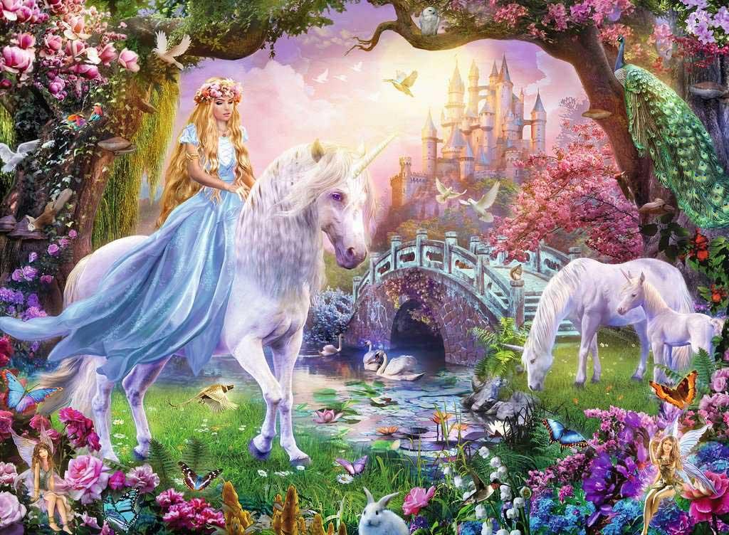 Unicorn Magic Castles Jigsaw Puzzle