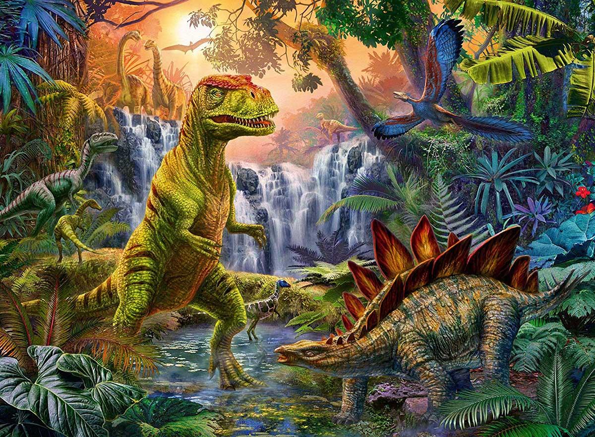 Prehistoric Oasis Dinosaurs Jigsaw Puzzle