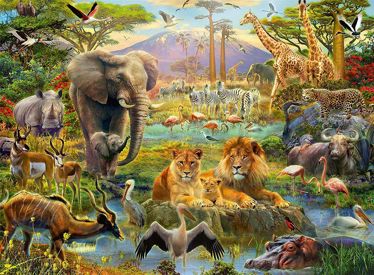 Animals of the Savannah Animals Jigsaw Puzzle