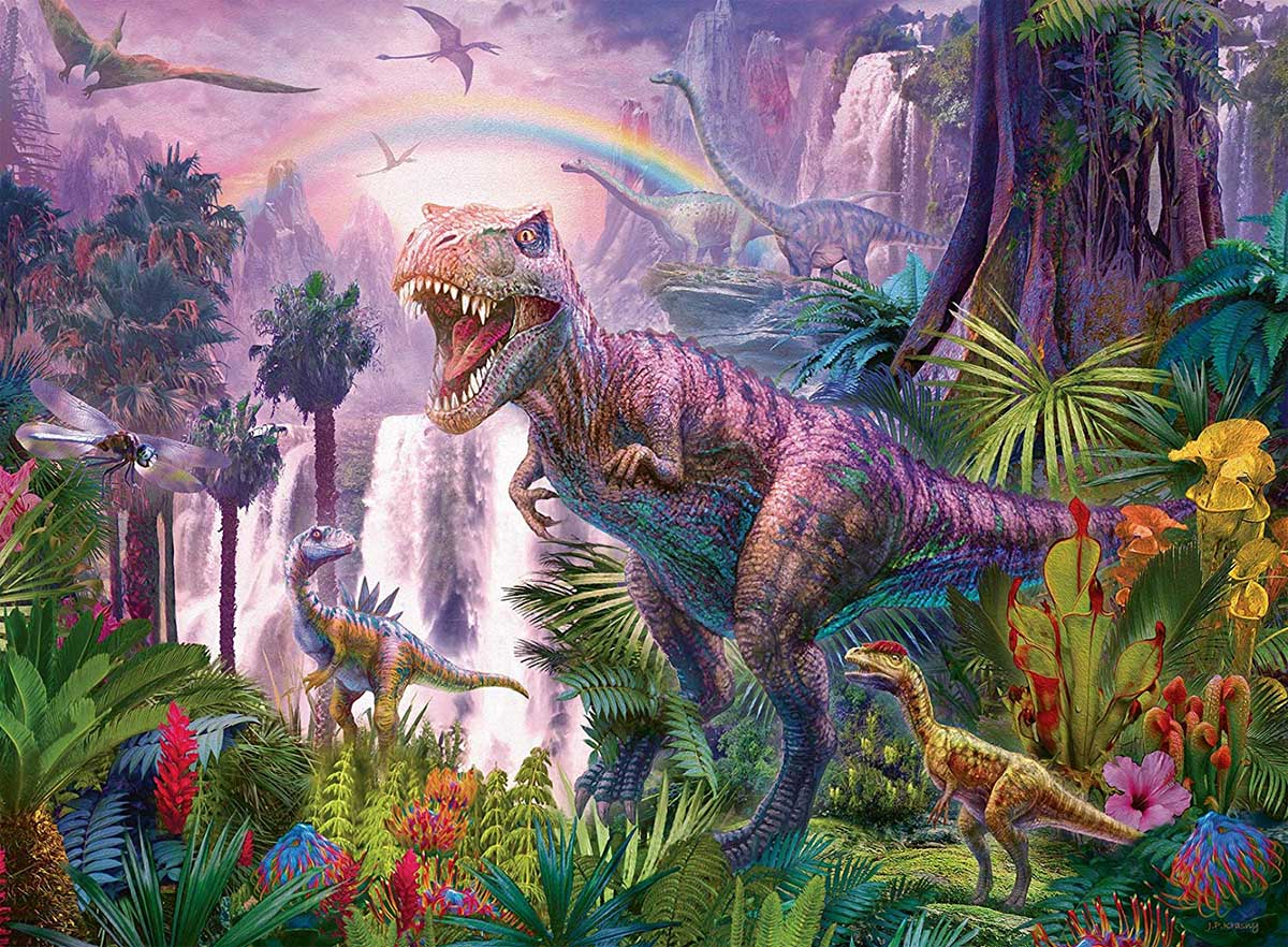 King of the Dinosaurs Dinosaurs Jigsaw Puzzle