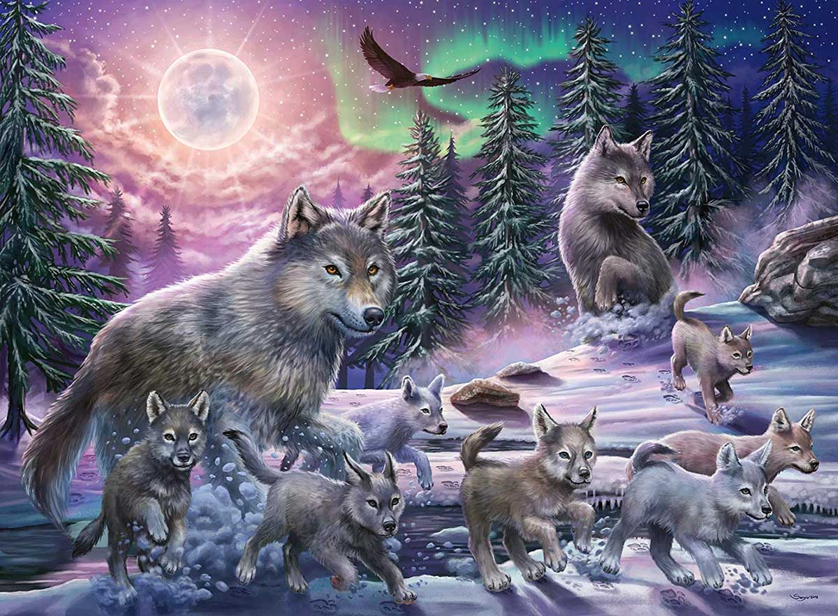 Northern Wolves Wolves Jigsaw Puzzle