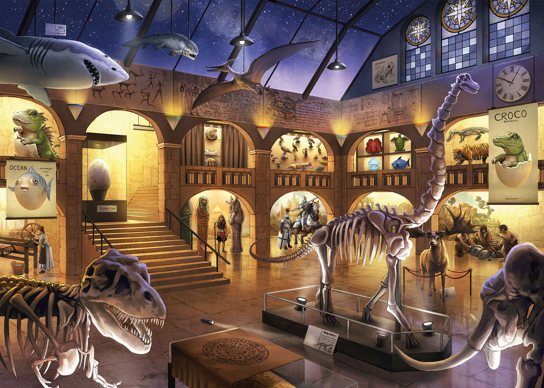 Museum Mysteries Library / Museum Jigsaw Puzzle