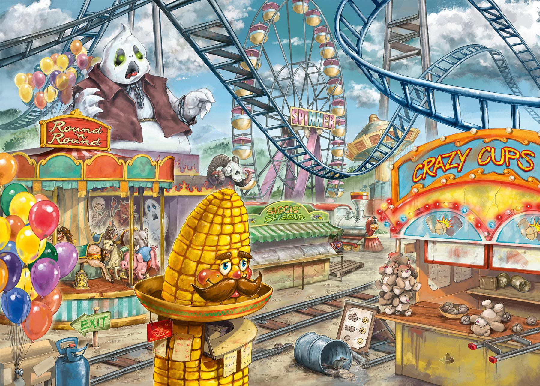Amusement Park Plight Carnival Jigsaw Puzzle