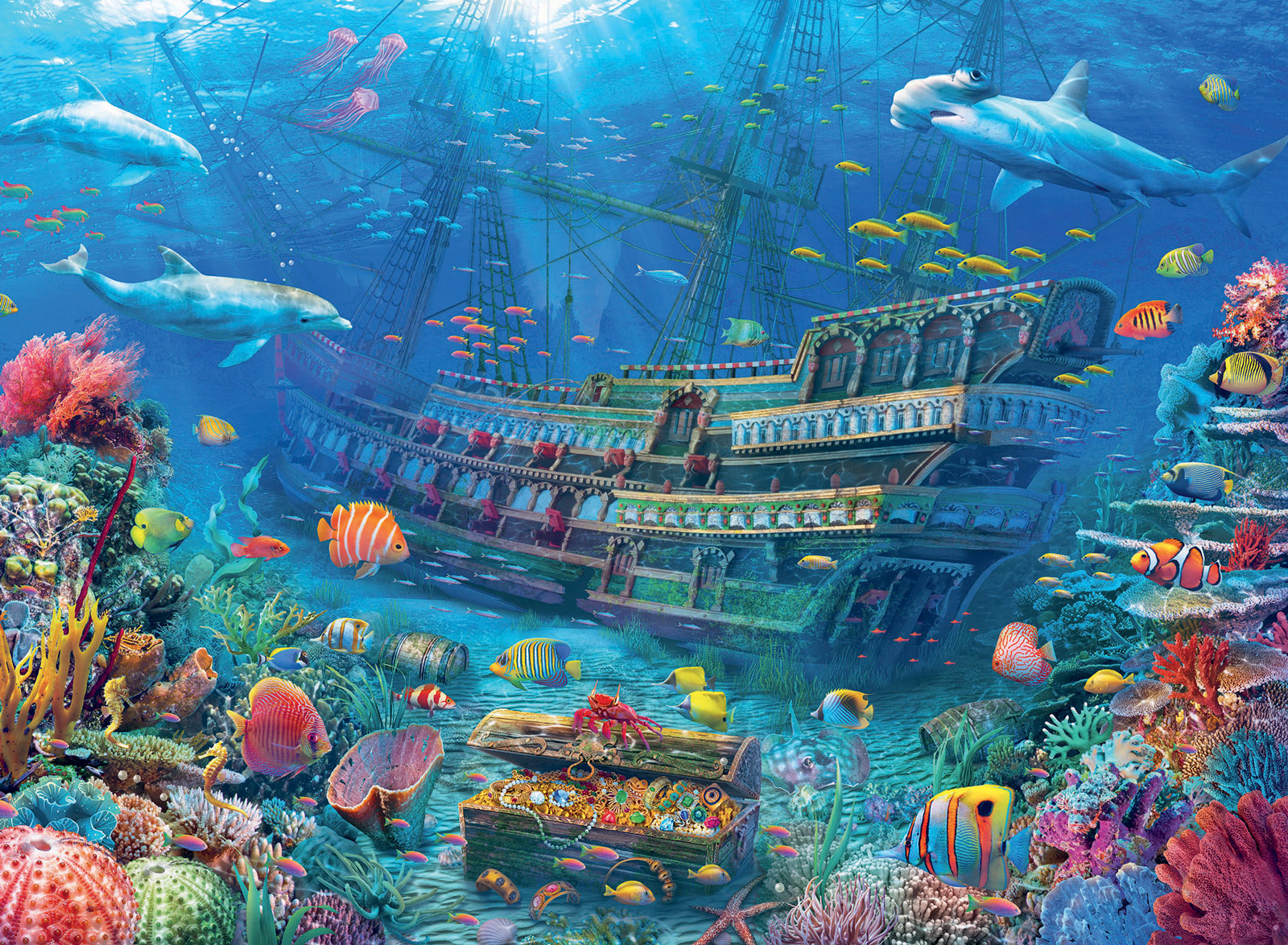Underwater Discovery Under The Sea Jigsaw Puzzle