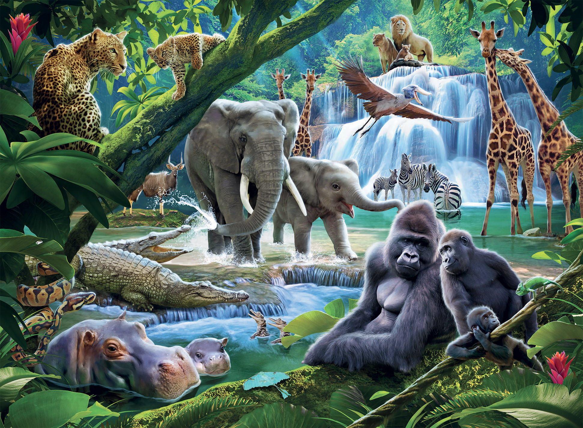 Jungle Animals Wildlife Jigsaw Puzzle