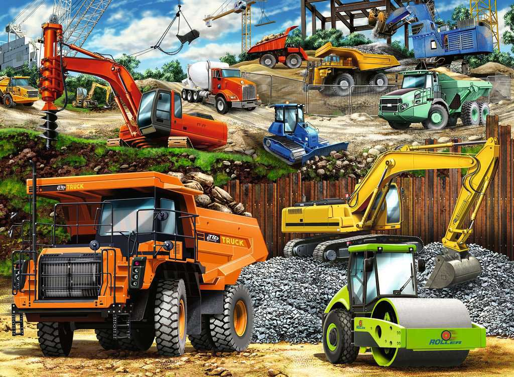 Construction Vehicles Vehicles Jigsaw Puzzle