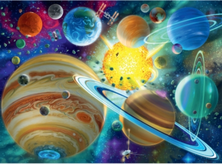 Cosmic Connection Space Jigsaw Puzzle