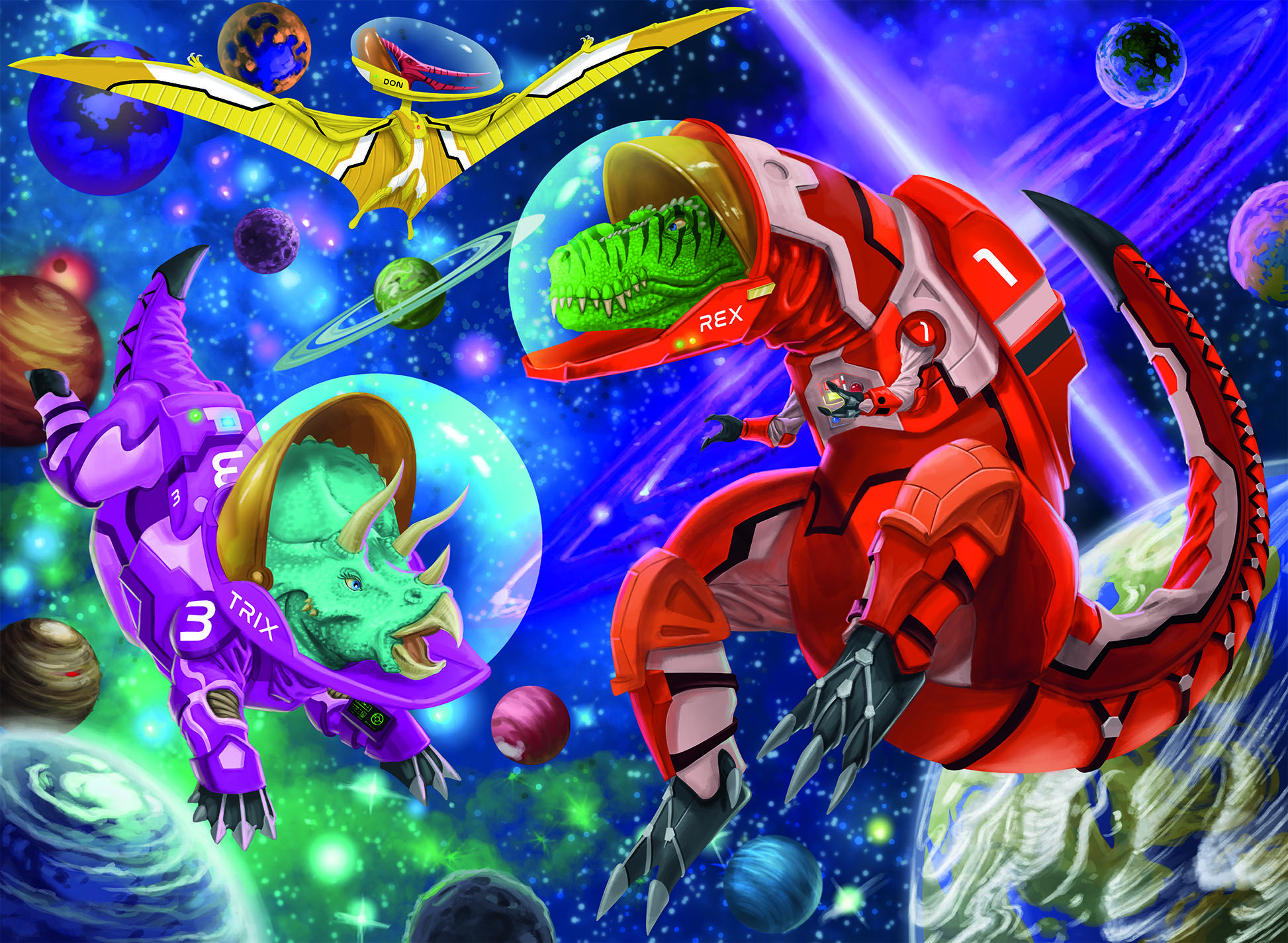 Space Dinosaurs Space Jigsaw Puzzle