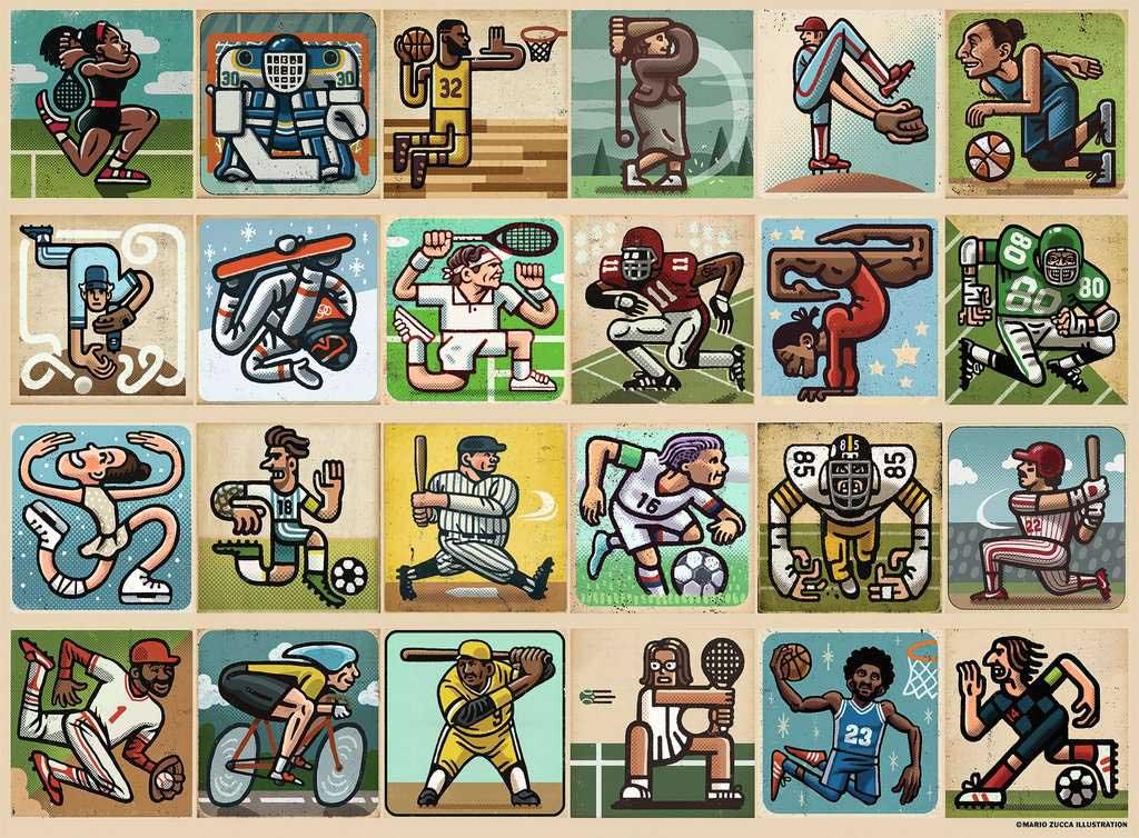 Awesome Athletes Sports Jigsaw Puzzle